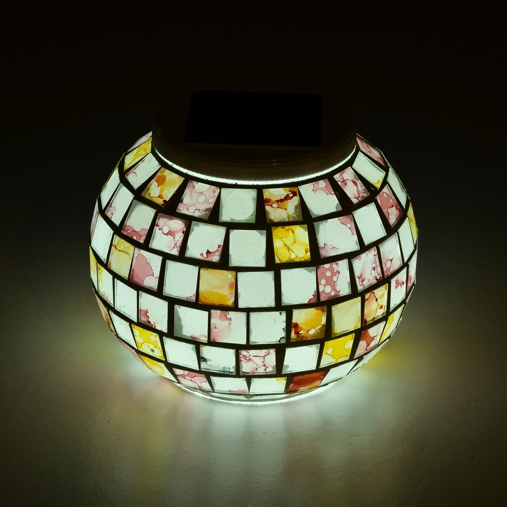 Well Known Outdoor Mosaic Lanterns For Outdoor Solar Mosaic Lamp (View 8 of 20)
