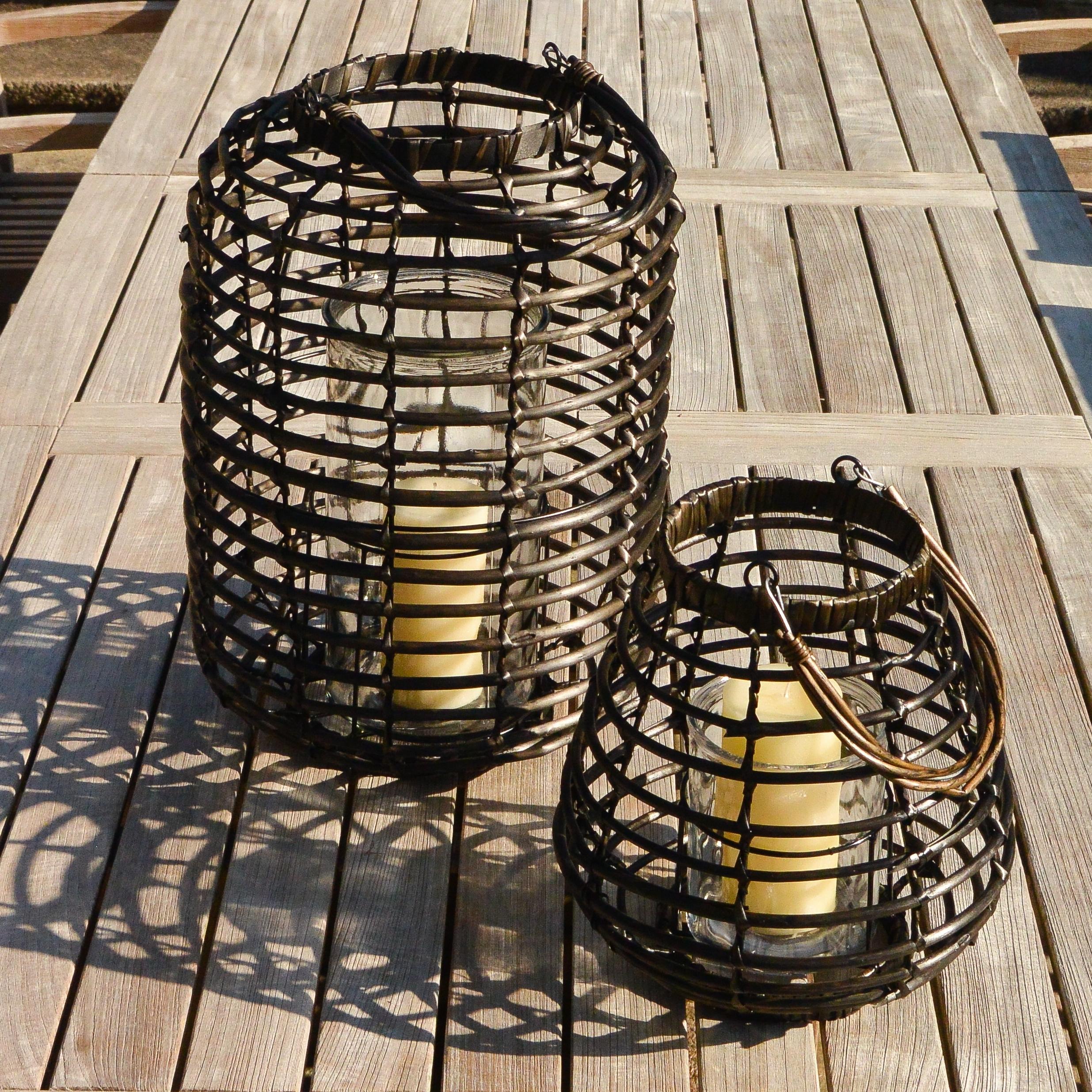 Well Known Outdoor Rattan Lanterns With Regard To Rattan Outdoor Lanterns Ella James (View 9 of 20)