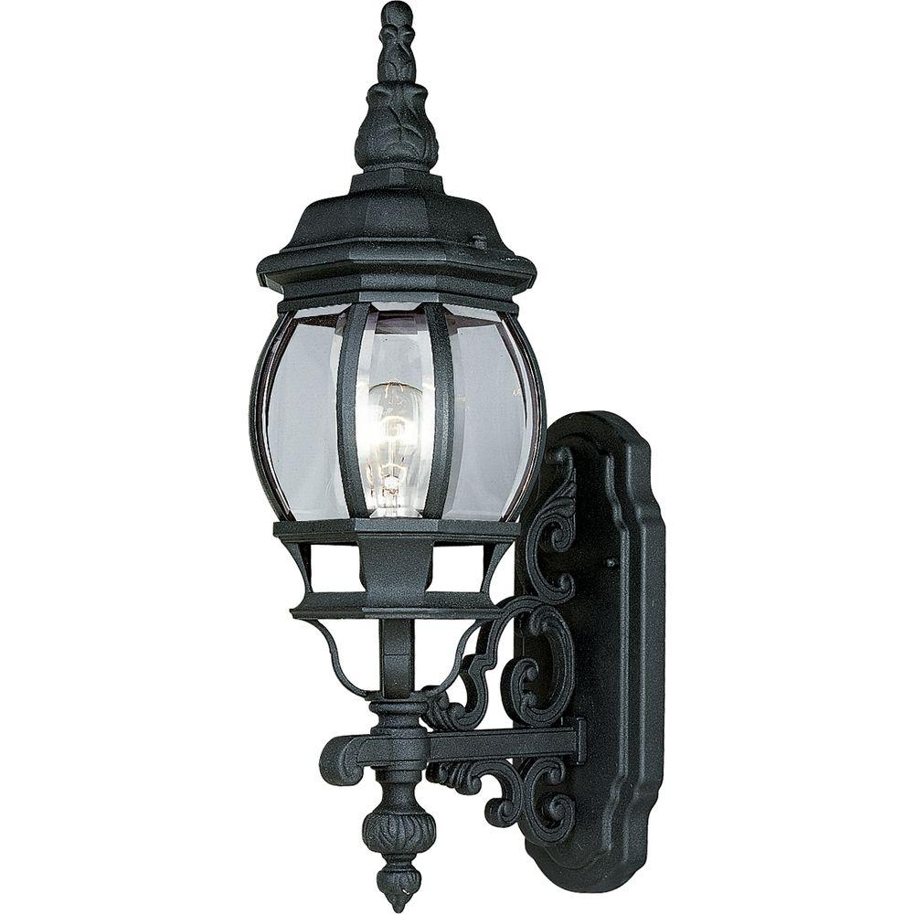 Well Known Progress Lighting Onion Lantern Collection Textured Black 1 Light With Regard To Outdoor Lighting Onion Lanterns (View 7 of 20)