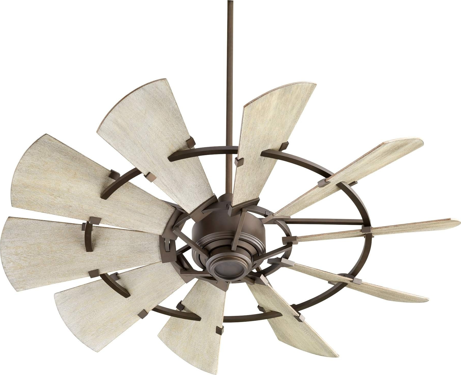 Well Known Quorum Outdoor Ceiling Fans Regarding Quorum Windmill Ceiling Fan Model 195210 86 In Oiled Bronze (View 7 of 20)