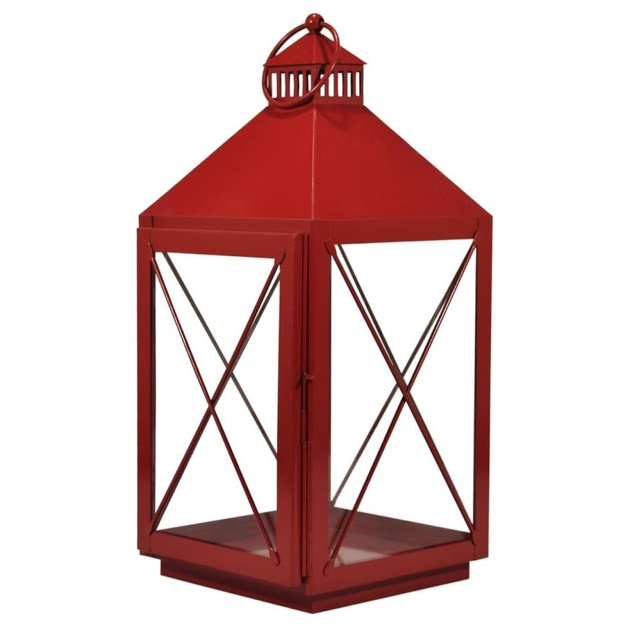 Well Known Red Outdoor Table Lanterns With Regard To Shop Outdoor Decorative Lanterns At Lowes (View 4 of 20)