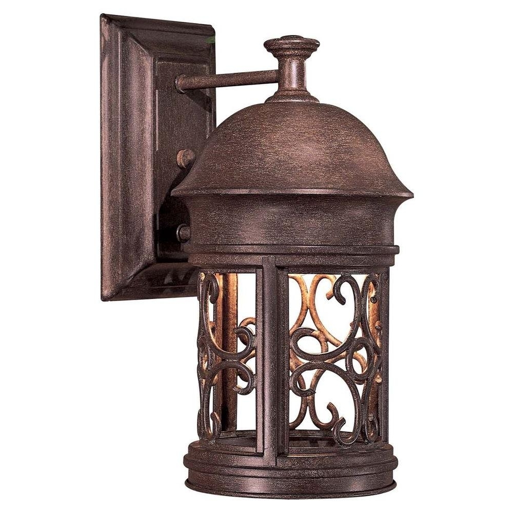 Well Known Rust Proof Outdoor Lanterns Throughout The Great Outdoorsminka Lavery Sage Ridge 1 Light Vintage Rust (View 18 of 20)