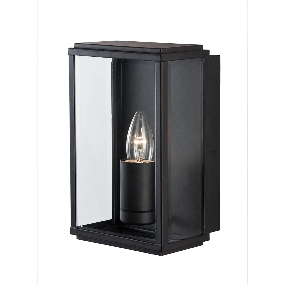 Well Known Searchlight 8204bk Outdoor Lighting Black Finish Glass Lantern From For Outdoor Glass Lanterns (View 15 of 20)