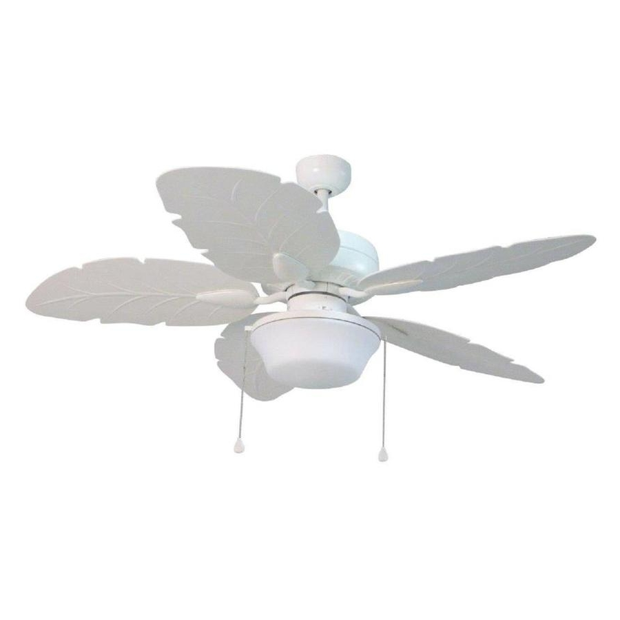Well Known Shop Harbor Breeze Waveport 52 In White Led Indoor/outdoor Downrod With Heavy Duty Outdoor Ceiling Fans (View 20 of 20)