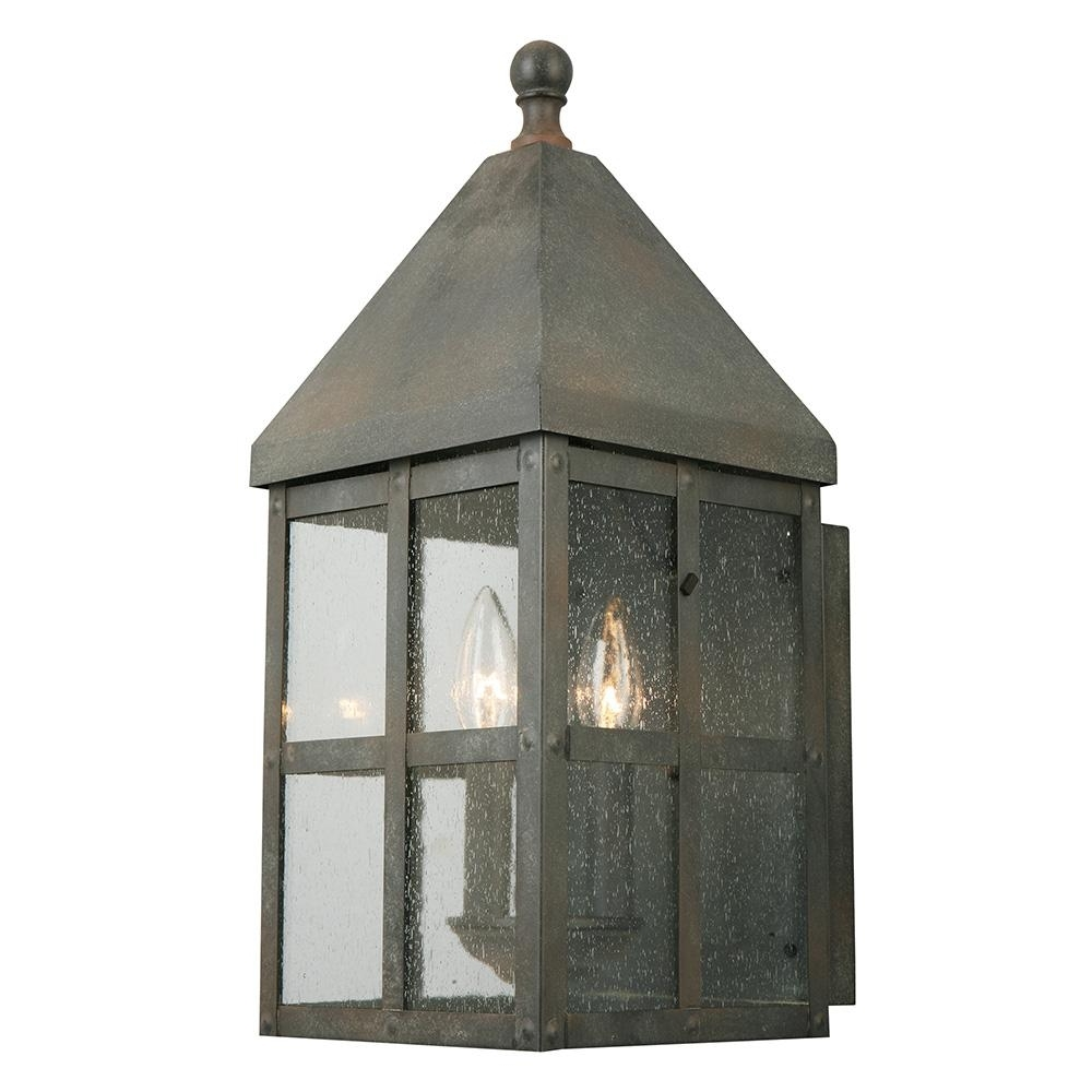 Well Known Zinc Outdoor Lanterns Pertaining To Eglo Creston Creek 3 Light Zinc Outdoor Wall Mount 202884A – The (View 14 of 20)