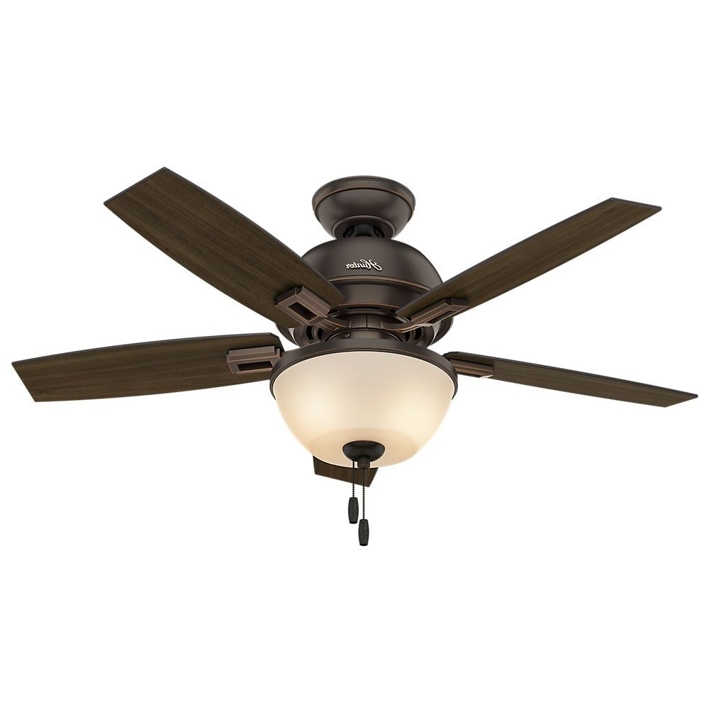 Well Liked 44 Inch Outdoor Ceiling Fans With Lights With Hunter Fan Donegan Collection 44 Inch Ceiling Fan With Light Kit (View 13 of 20)