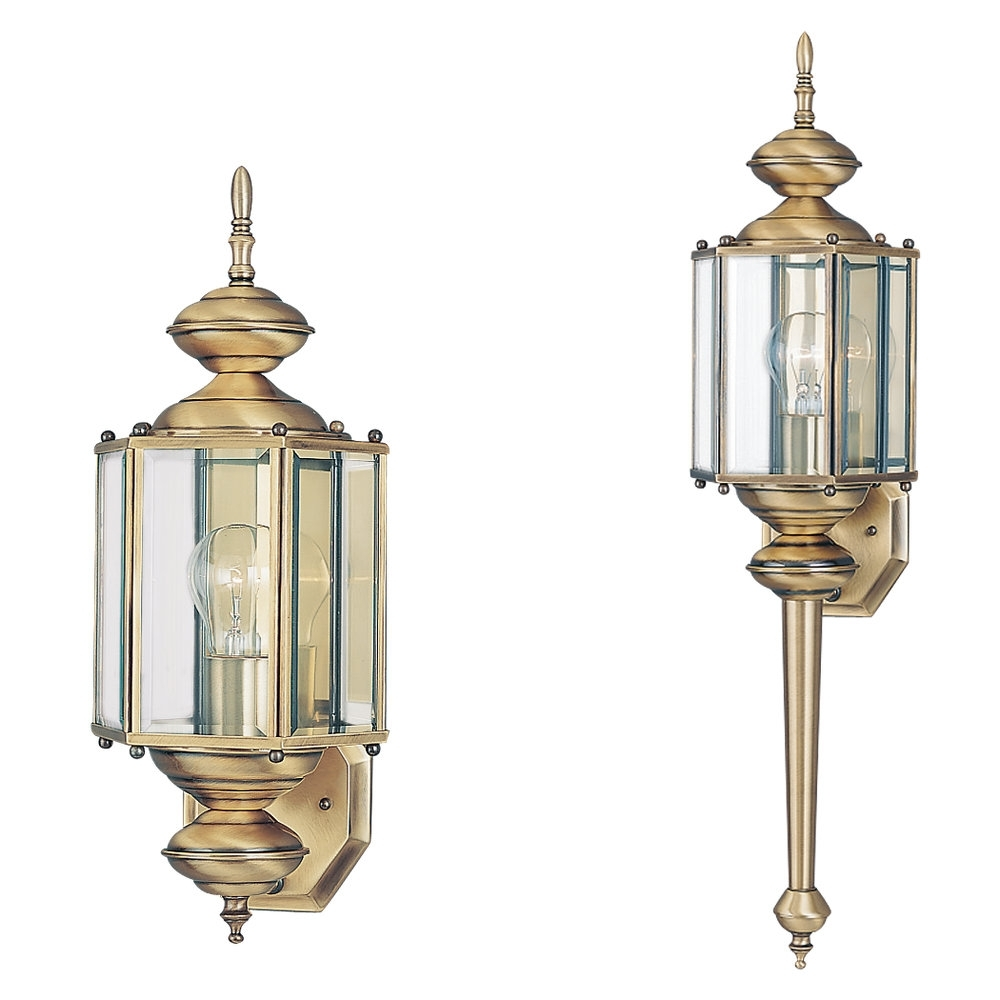 Well Liked Brass Outdoor Lanterns Regarding 8510 01,one Light Outdoor Wall Lantern,antique Brass (View 18 of 20)