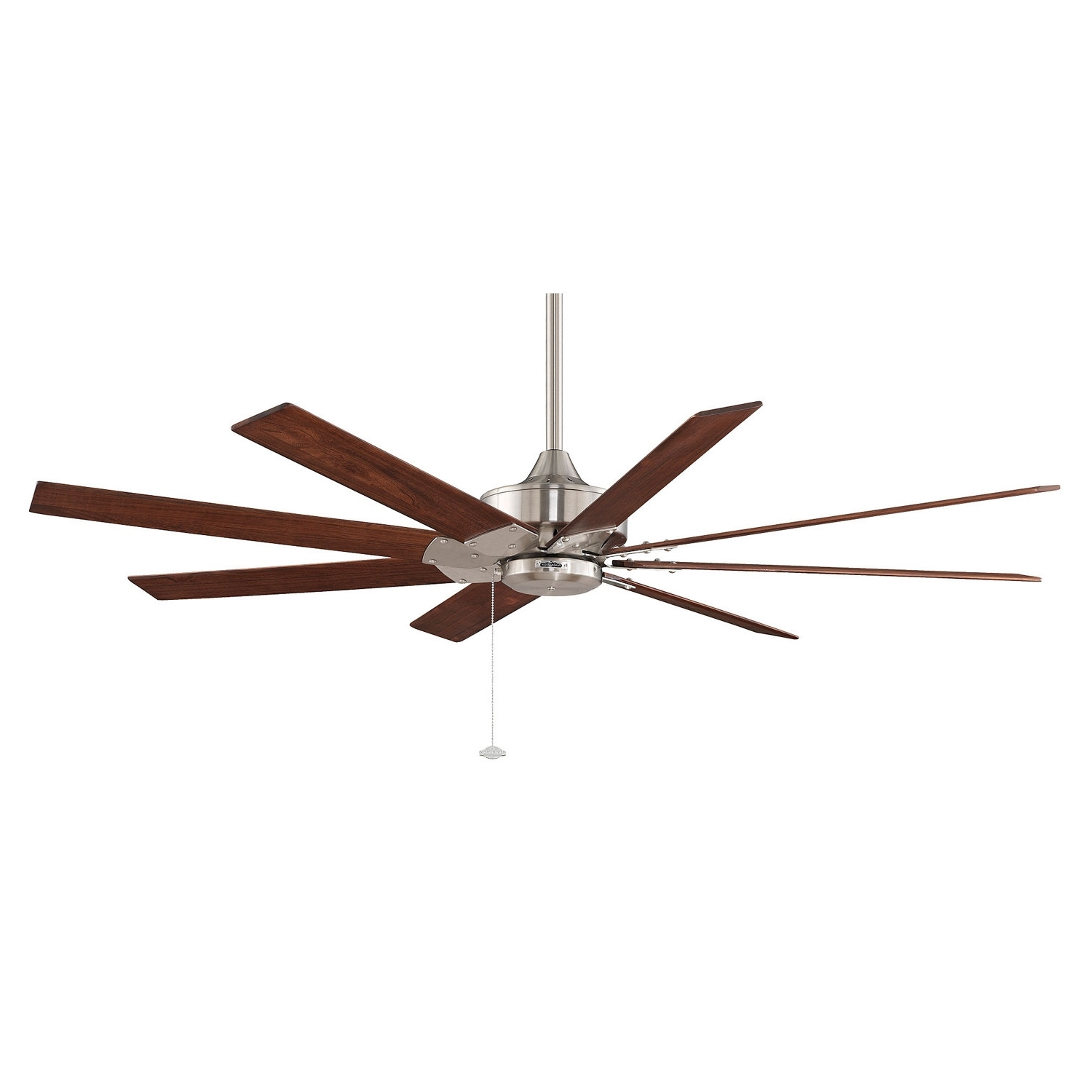 Well Liked Commercial Outdoor Ceiling Fans Inside Fanimation Levon Brushed Nickel 63 Inch Energy Star Ceiling Fan With (View 19 of 20)