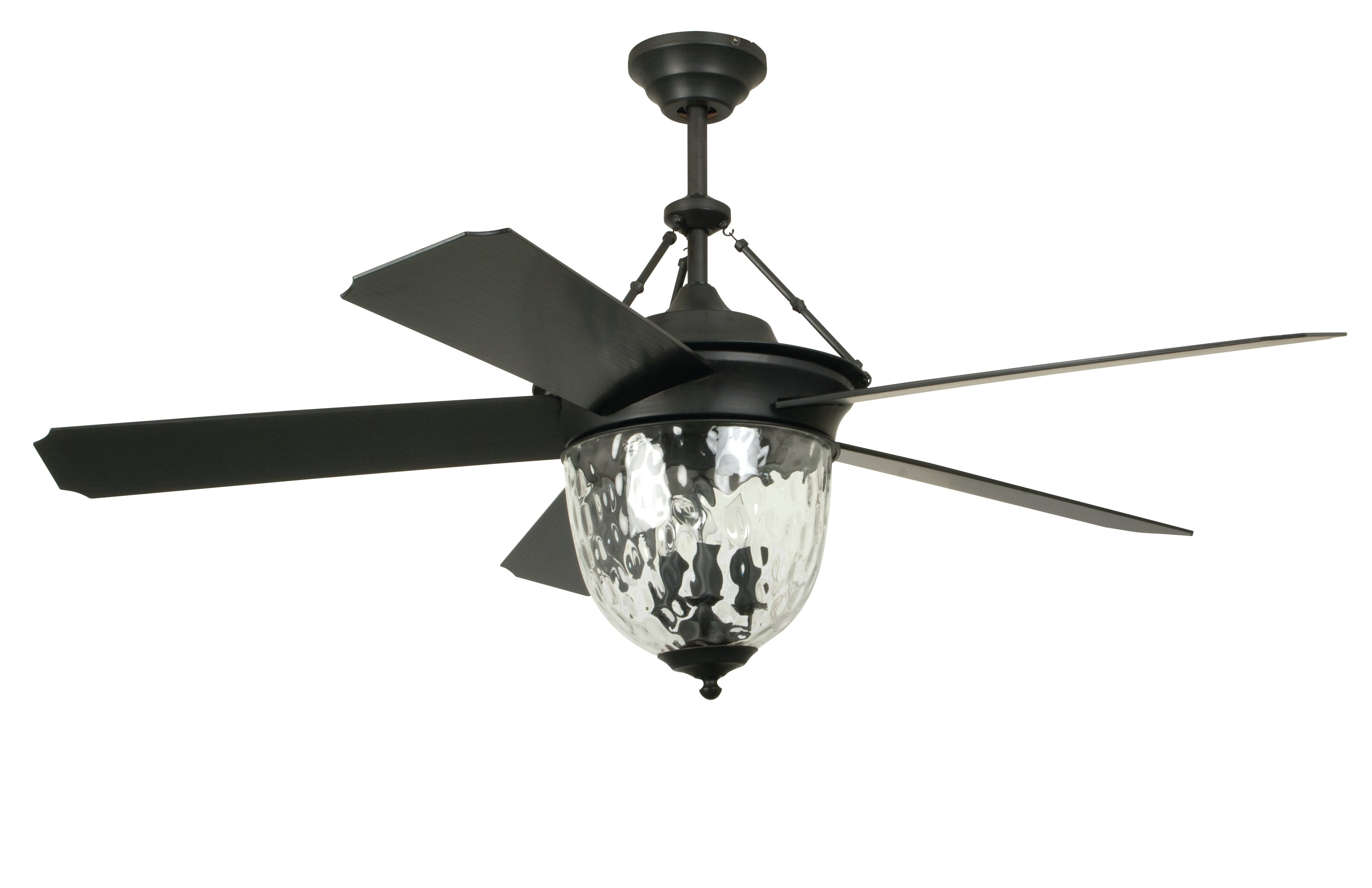 """Well Liked Hurricane Outdoor Ceiling Fans Inside Longshore Tides 52"""" Fairmead 5 Blade Ceiling Fan With Wall Remote (View 19 of 20)"""