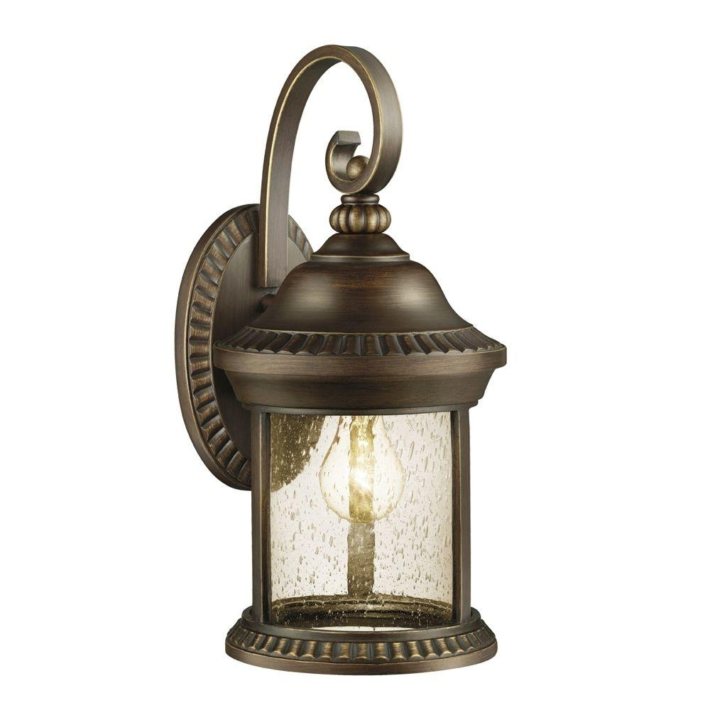 Well Liked Large Outdoor Electric Lanterns For Home Decorators Collection Cambridge Outdoor Essex Bronze Large Wall (Gallery 11 of 20)