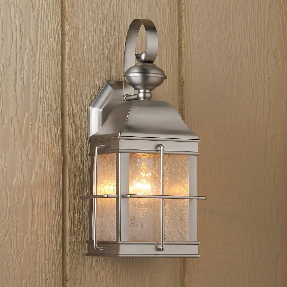 Well Liked Nickel Outdoor Lanterns With Brushed Nickel Outdoor Lights Elegant Nautical Inspired Lantern Wall (View 19 of 20)