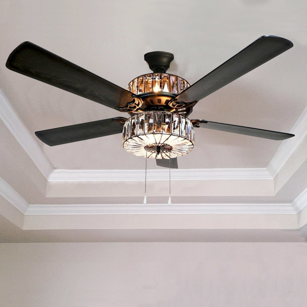 Well Liked Outdoor Ceiling Fan With Light Under $100 With Regard To Buy 50 – 60 Inches Ceiling Fans Online At Overstock (View 13 of 20)