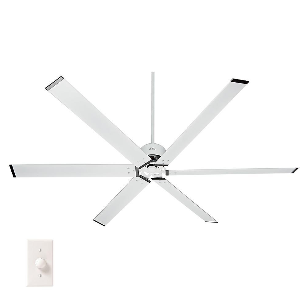Well Liked Outdoor Ceiling Fans With Aluminum Blades With Regard To Hunter Hfc 96 96 In (View 19 of 20)