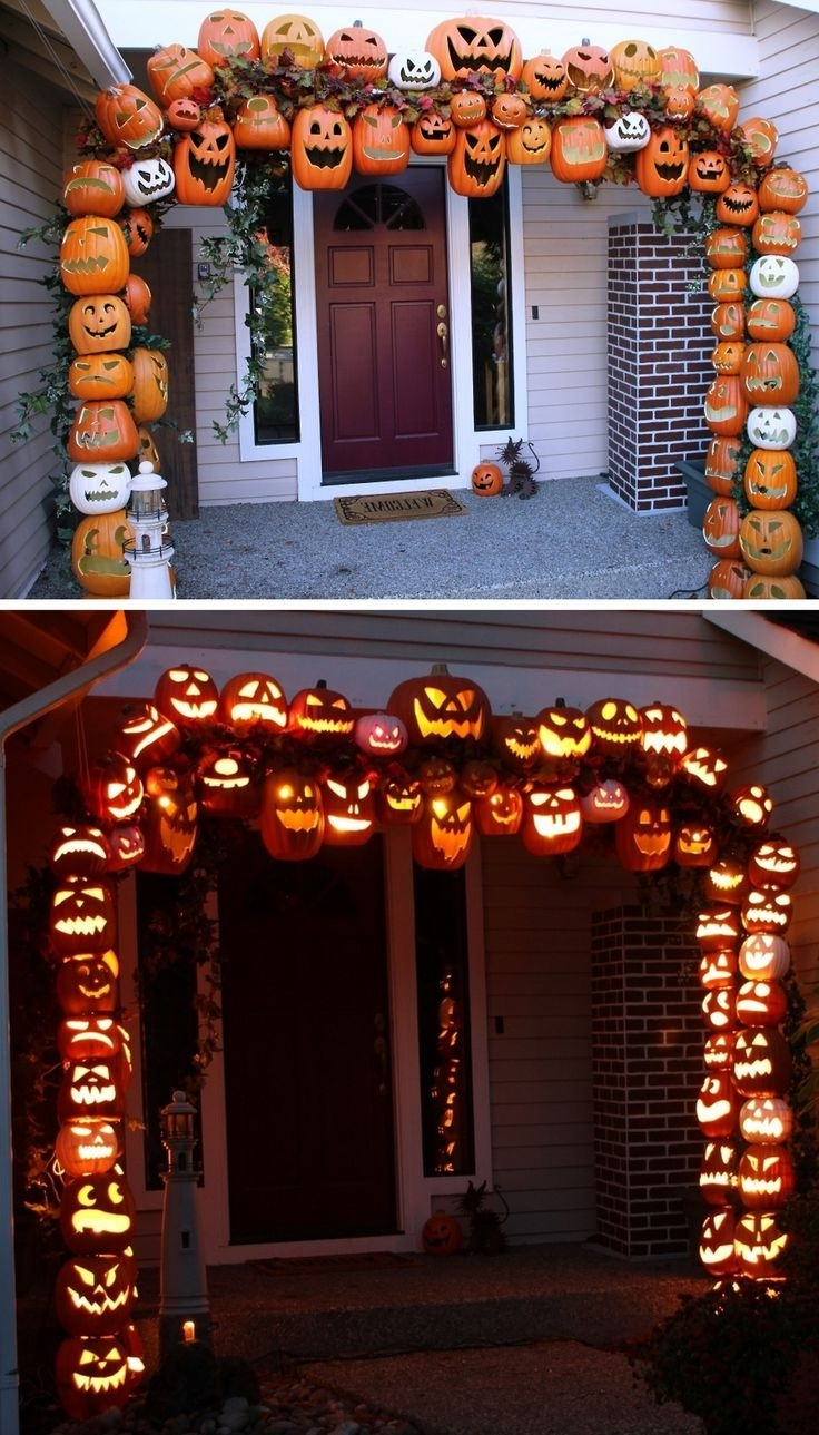 Well Liked Outdoor Halloween Lanterns With 50 Best Diy Halloween Outdoor Decorations For (View 2 of 20)