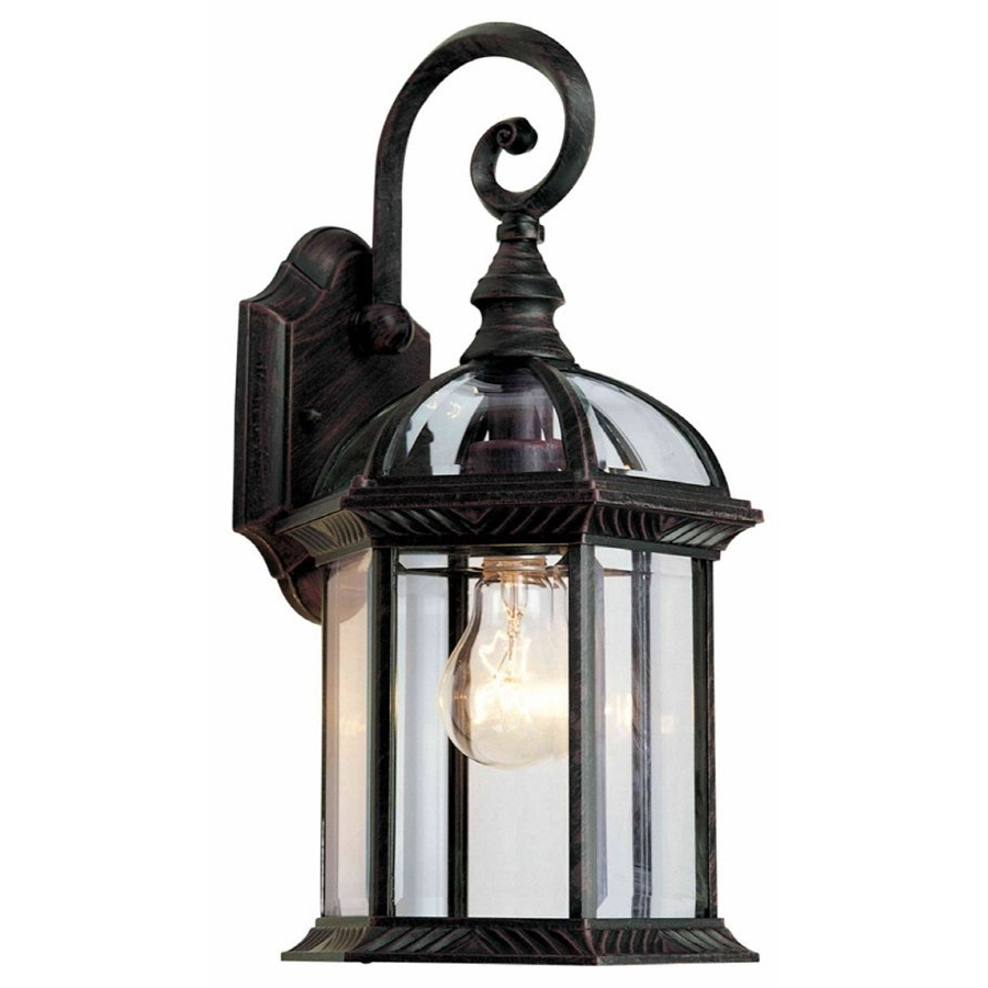 Well Liked Outdoor Mounted Lanterns Regarding Solar Light Wall Mounted Lantern Outdoor Lighting Dusk To Dawn Lowes (View 4 of 20)