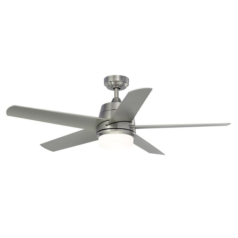 Well Liked Shop Fanimation Studio Collection Berlin 52 In Brushed Nickel Indoor For Brushed Nickel Outdoor Ceiling Fans With Light (View 12 of 20)