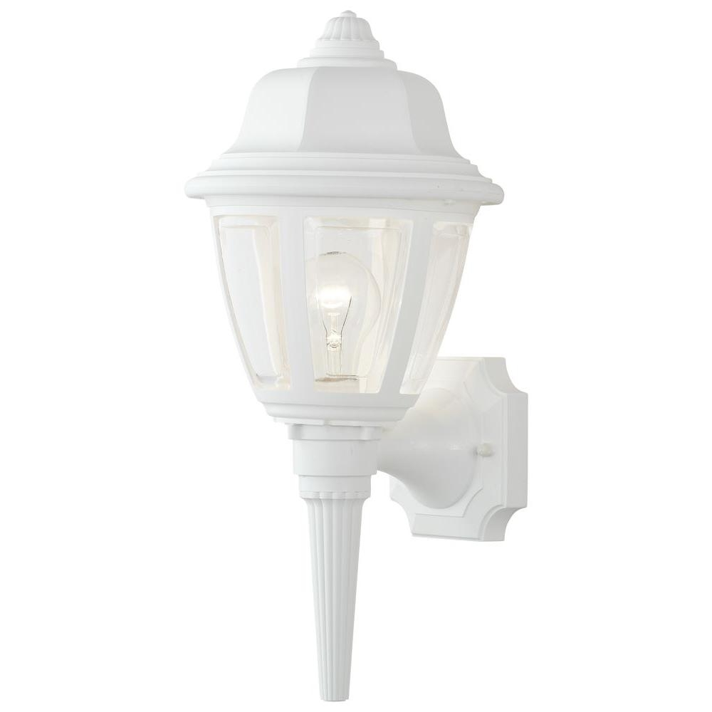 Well Liked Thomas Lighting 1 Light Matte White Outdoor Wall Mount Lantern With White Outdoor Lanterns (View 14 of 20)