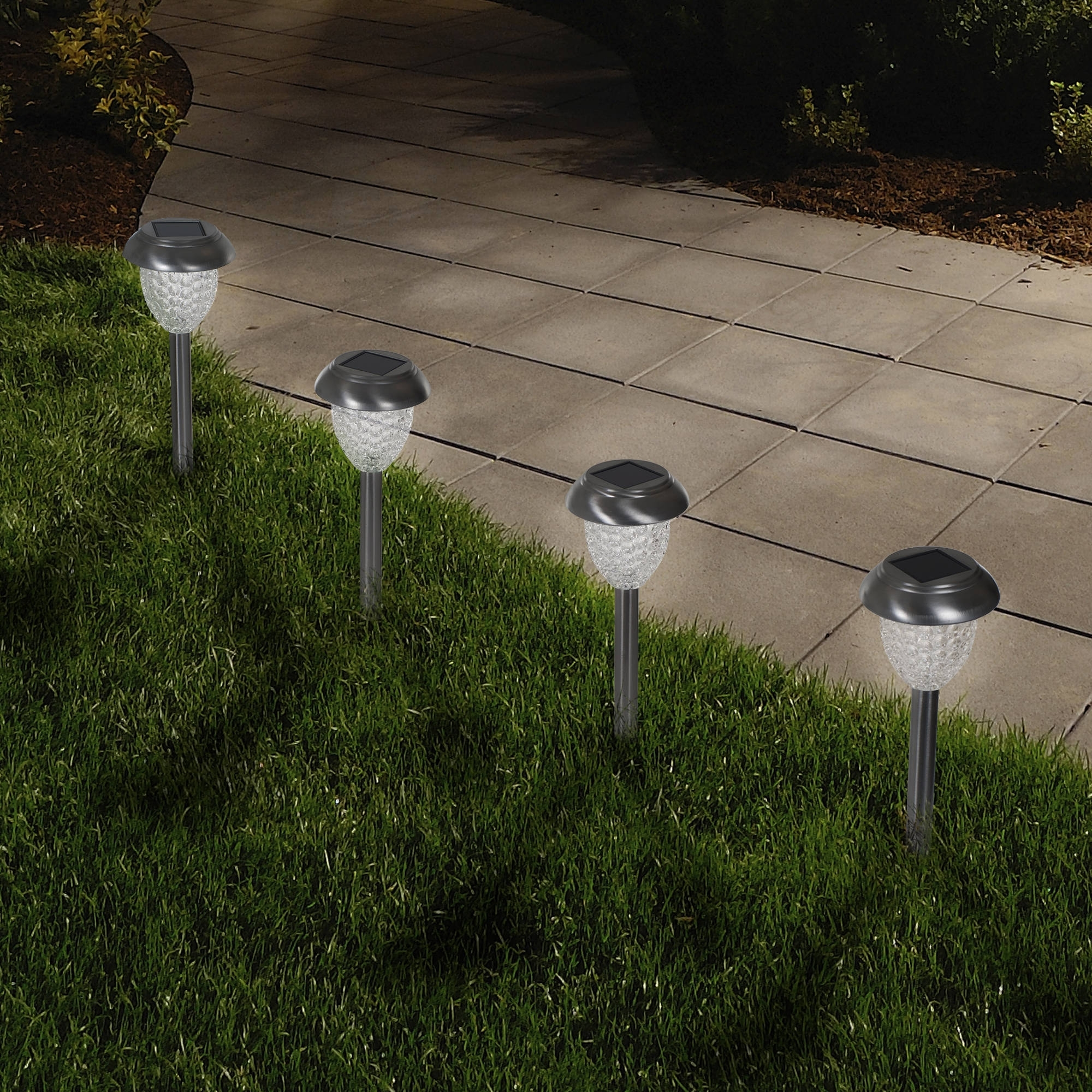 Well Liked Walmart Outdoor Lanterns For Solar Powered Glass Lights (Set Of 6)  Led Outdoor Stake Spotlight (View 19 of 20)