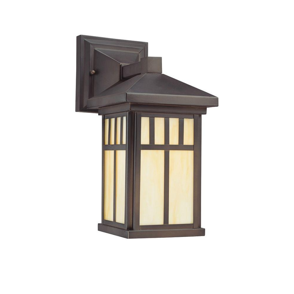 Westinghouse Burnham 1 Light Oil Rubbed Bronze Outdoor Wall Mount Throughout Popular Outdoor Lanterns On Stands (View 19 of 20)