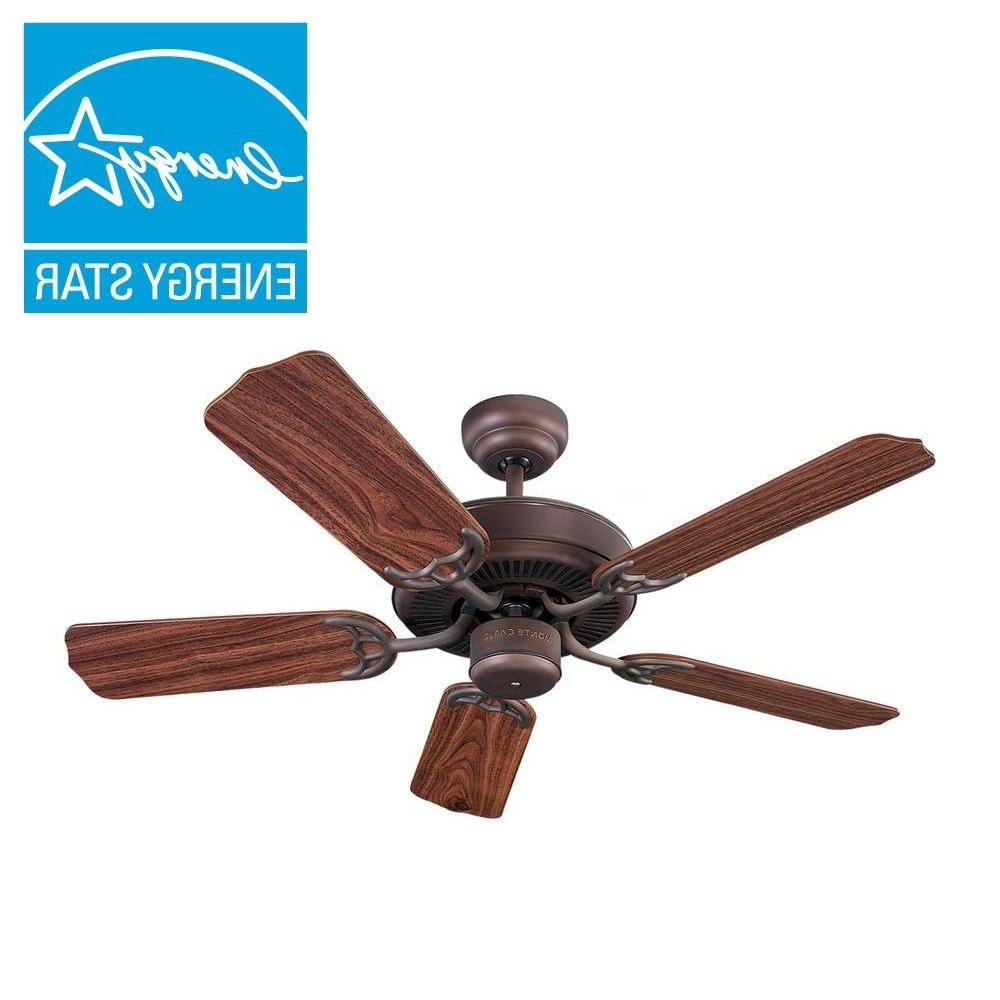 Wet Rated Emerson Outdoor Ceiling Fans Throughout 2018 Bronze – Ceiling Fans – Lighting – The Home Depot (View 18 of 20)