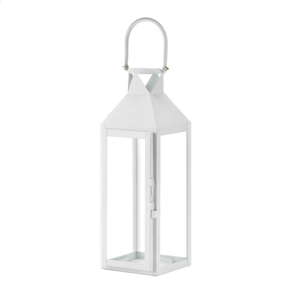 White Lanterns Candle, Decorative Wrought Outdoor Metal Candle Inside 2019 Metal Outdoor Lanterns (View 20 of 20)