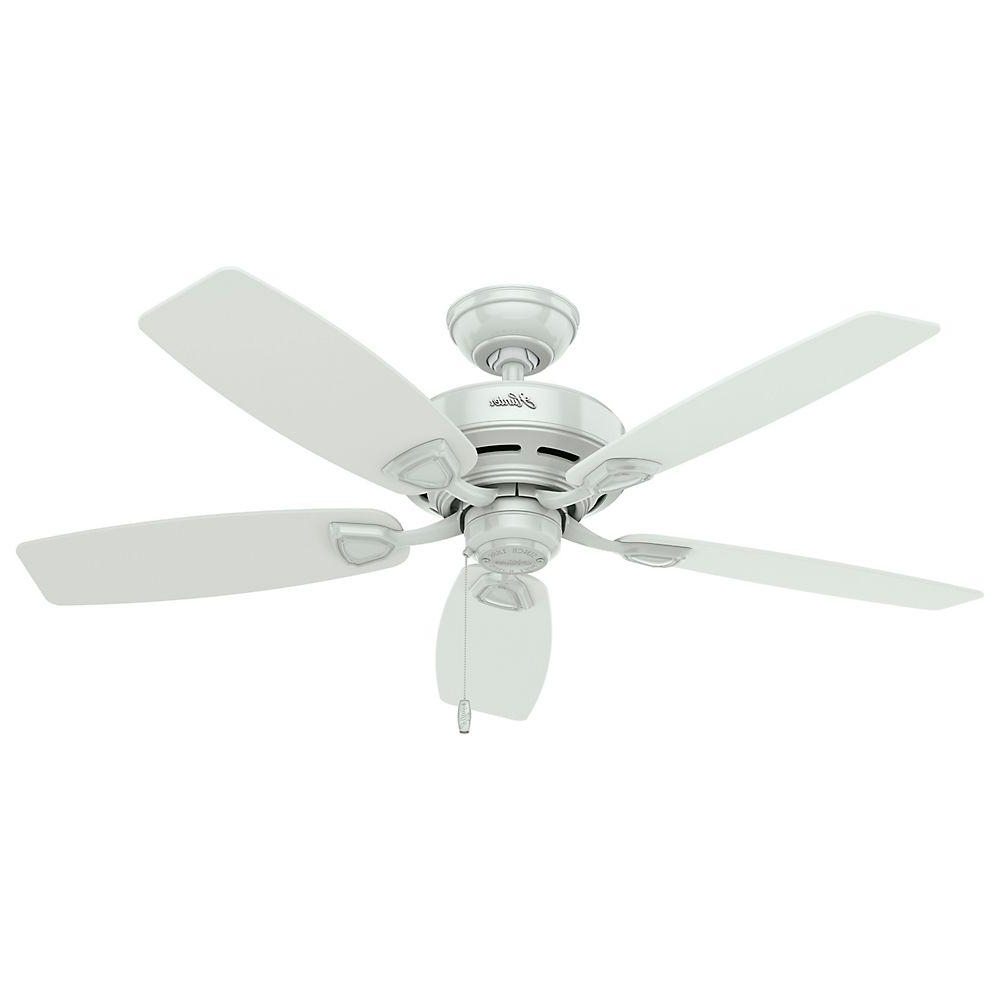 White Outdoor Ceiling Fans With Lights Regarding Most Up To Date Hunter Sea Wind 48 In (View 19 of 20)