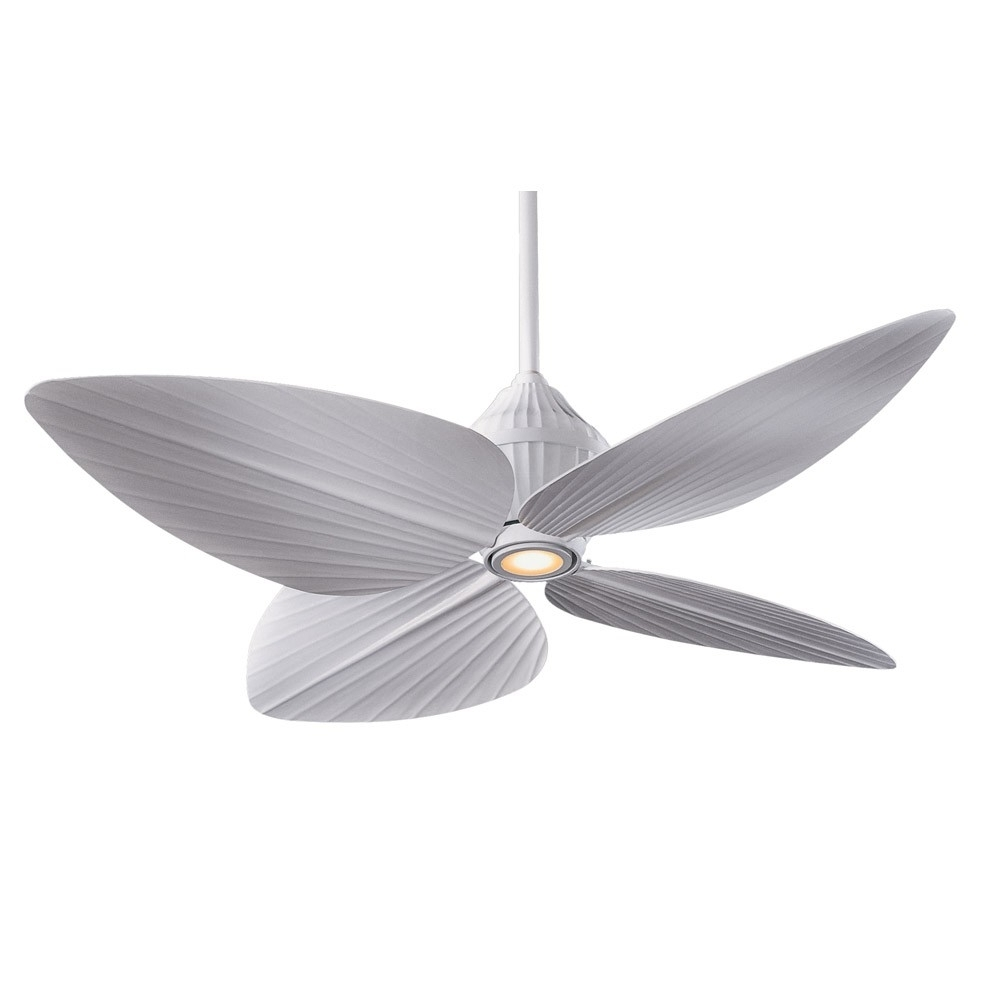White Outdoor Ceiling Fans Within Most Popular F581 Whf Minka Aire Gauguin Ceiling Fan – Flat White – Bahama Style (View 18 of 20)