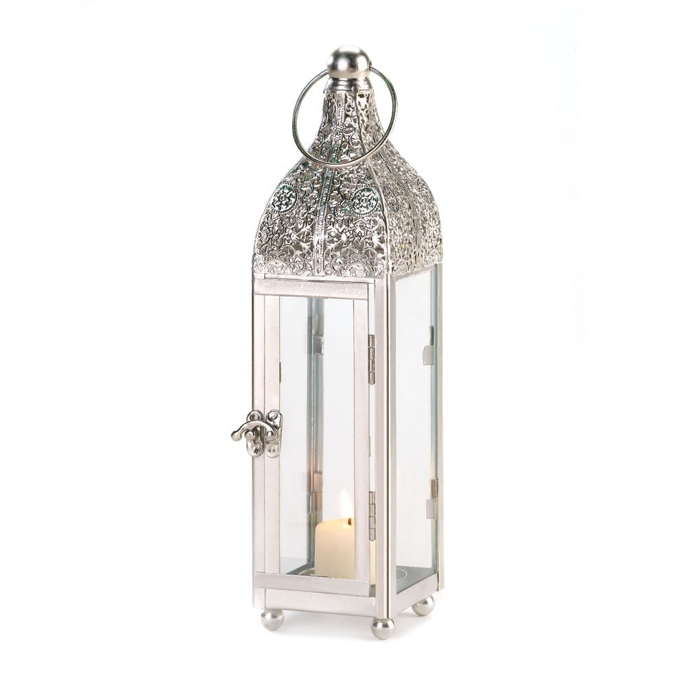 White Outdoor Lanterns For Well Known Lantern Candle White, Outdoor Antique Decor, Small Ornate Candle (View 18 of 20)
