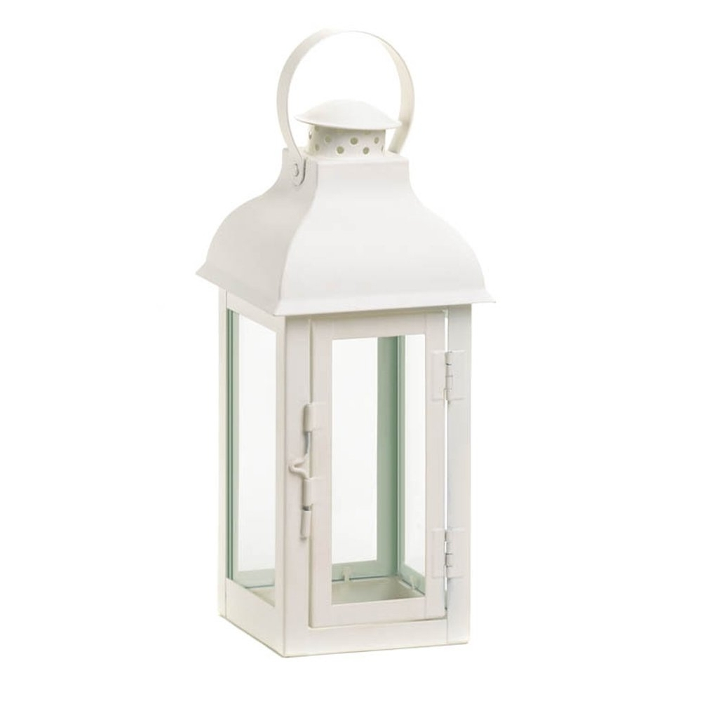 White Outdoor Lanterns In Most Recent Candle Lanterns Decorative White, Rustic Wrought Metal Candle Holder (View 2 of 20)