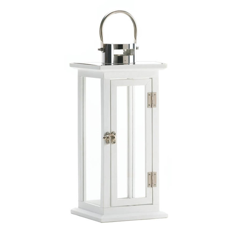 White Outdoor Lanterns Inside Most Recent White Lantern Candle, Antique Decorative Iron Highland Candle (View 4 of 20)