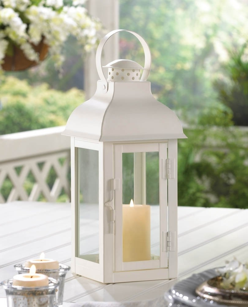 White Outdoor Lanterns Intended For Most Current White Lanterns Candle, Decorative Wrought Outdoor Metal Candle (View 10 of 20)