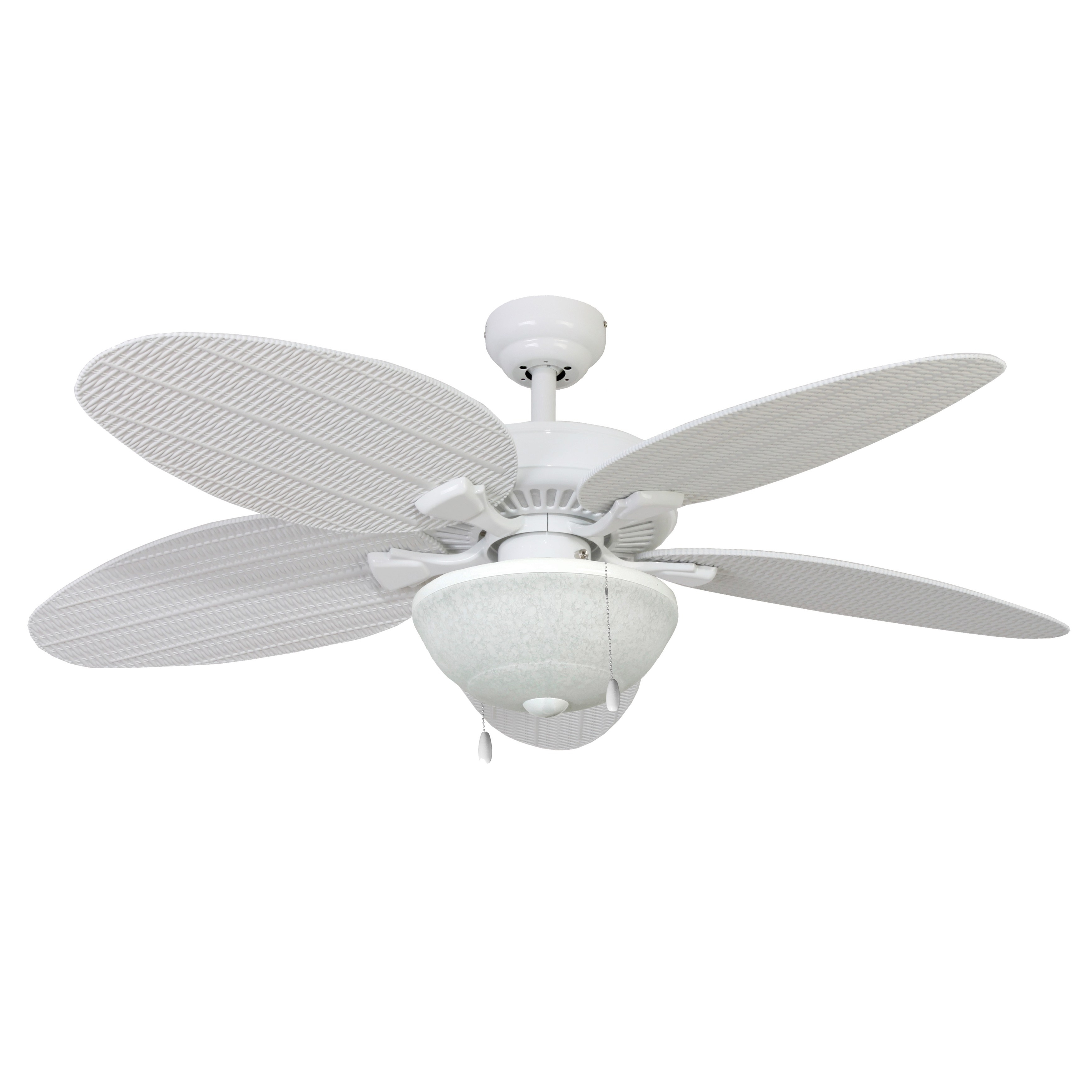Wicker Outdoor Ceiling Fans With Lights With Well Liked Shop Ecosure Siesta Key 52 Inch Tropical, White Bowl Light Indoor (View 20 of 20)