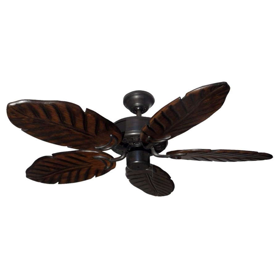 "Widely Used 42"" Outdoor Tropical Ceiling Fan Oil Rubbed Bronze Finish – Treated Regarding Outdoor Ceiling Fans With Lights Damp Rated (View 19 of 20)"
