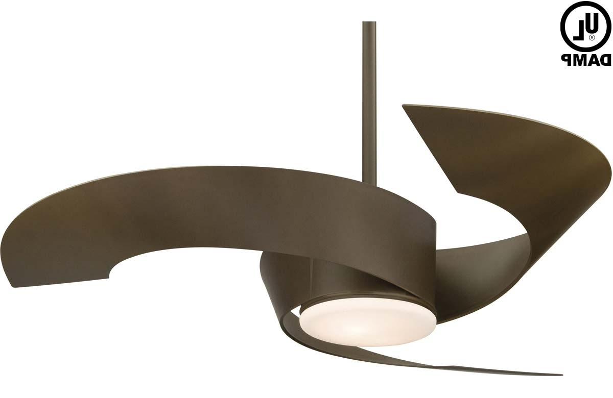 Widely Used Contemporary Outdoor Ceiling Fans Intended For Modern Veranda Decoration With Remote Control Outdoor Ceiling Light (View 20 of 20)