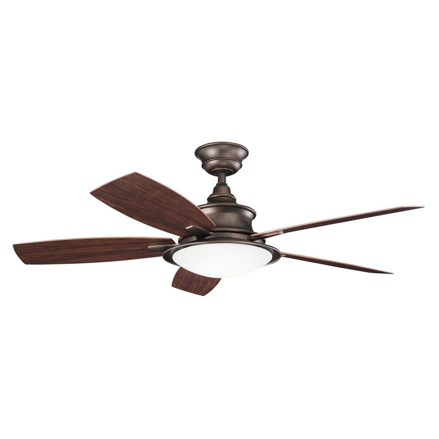 Widely Used Copper Outdoor Ceiling Fans Inside Shop Kichler Cameron 52 In Weathered Copper Indoor/outdoor Downrod (View 9 of 20)