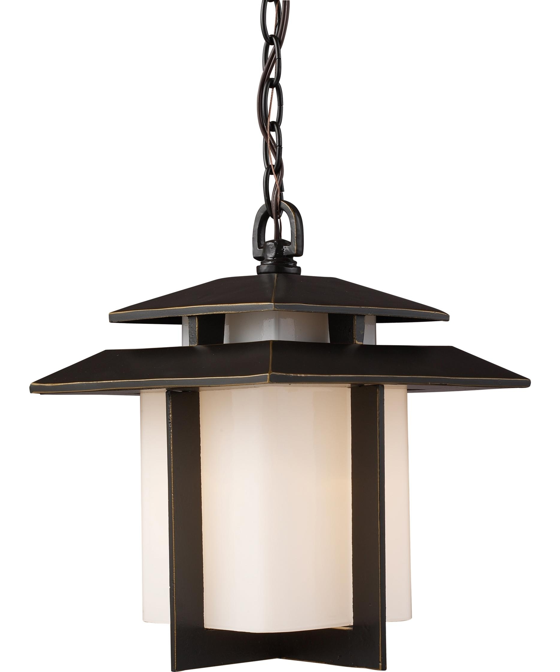 Widely Used Elk Lighting 42172 1 Kanso 10 Inch Wide 1 Light Outdoor Hanging Throughout Outdoor Japanese Lanterns For Sale (View 12 of 20)
