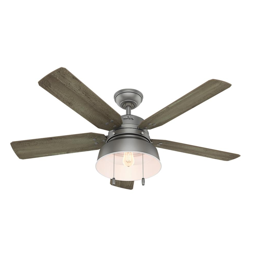 Widely Used Grey Outdoor Ceiling Fans In Hunter Mill Valley 52 In (View 2 of 20)