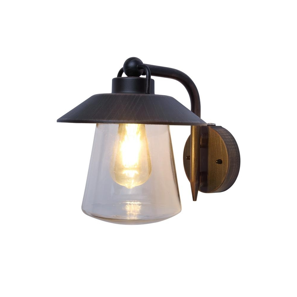 Widely Used Home Decorators Collection 1 Light Rust Outdoor Wall Mount Lantern Regarding Outdoor Lanterns With Photocell (View 20 of 20)
