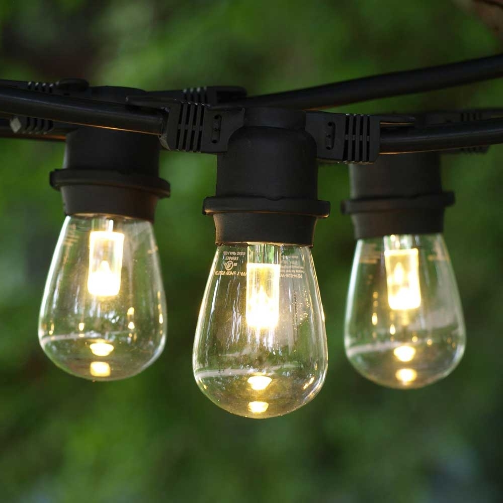 Widely Used Led Outdoor String Lights, 100' Black, Led S14 Professional Bulbs For Outdoor Rope Lanterns (View 20 of 20)