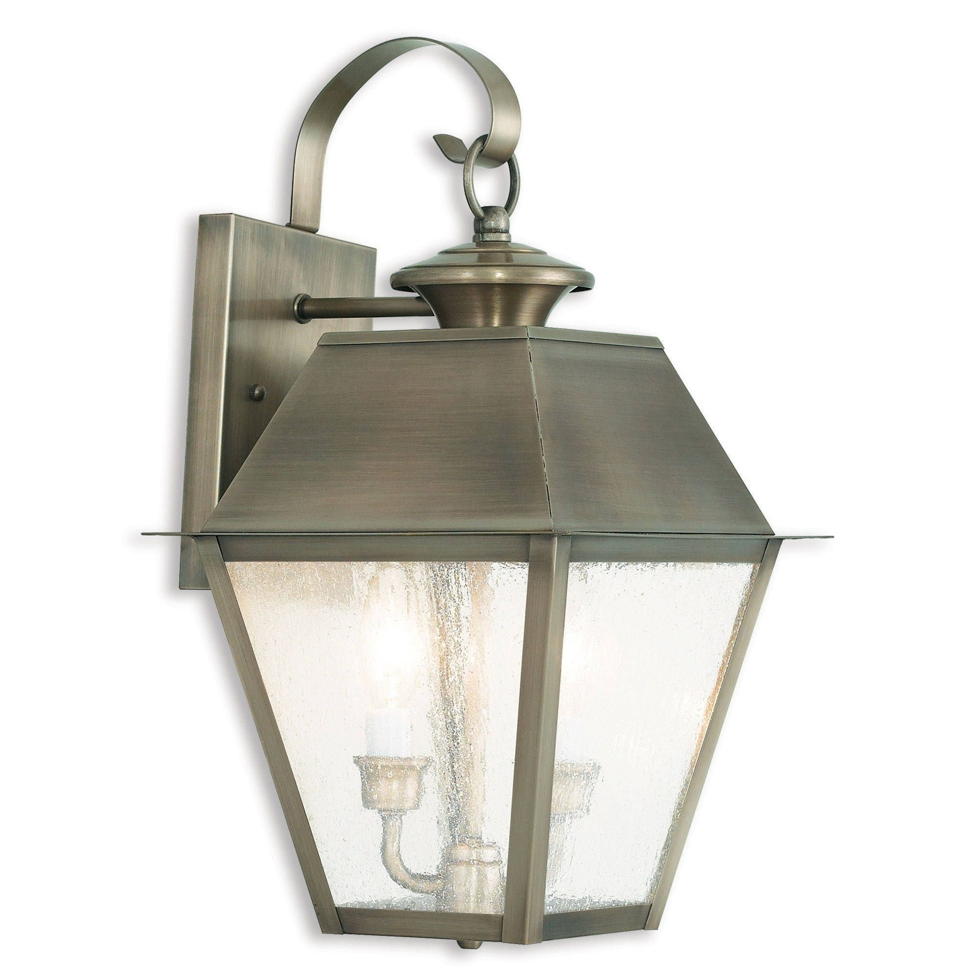 Widely Used Livex Lighting Mansfield Antique Pewter Brass 3 Light Outdoor Within Brass Outdoor Lanterns (View 15 of 20)