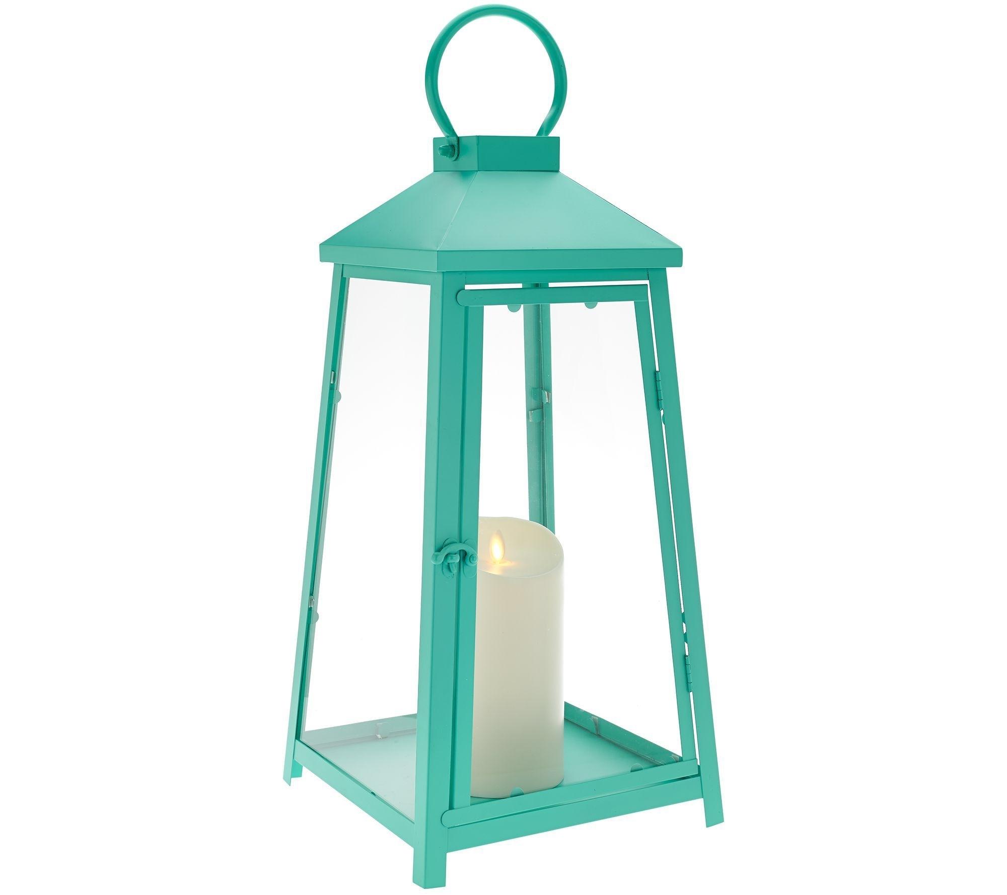 "Widely Used Luminara 18"" Hampton Indoor Outdoor Lantern With Flameless Candle Throughout Outdoor Luminara Lanterns (View 18 of 20)"