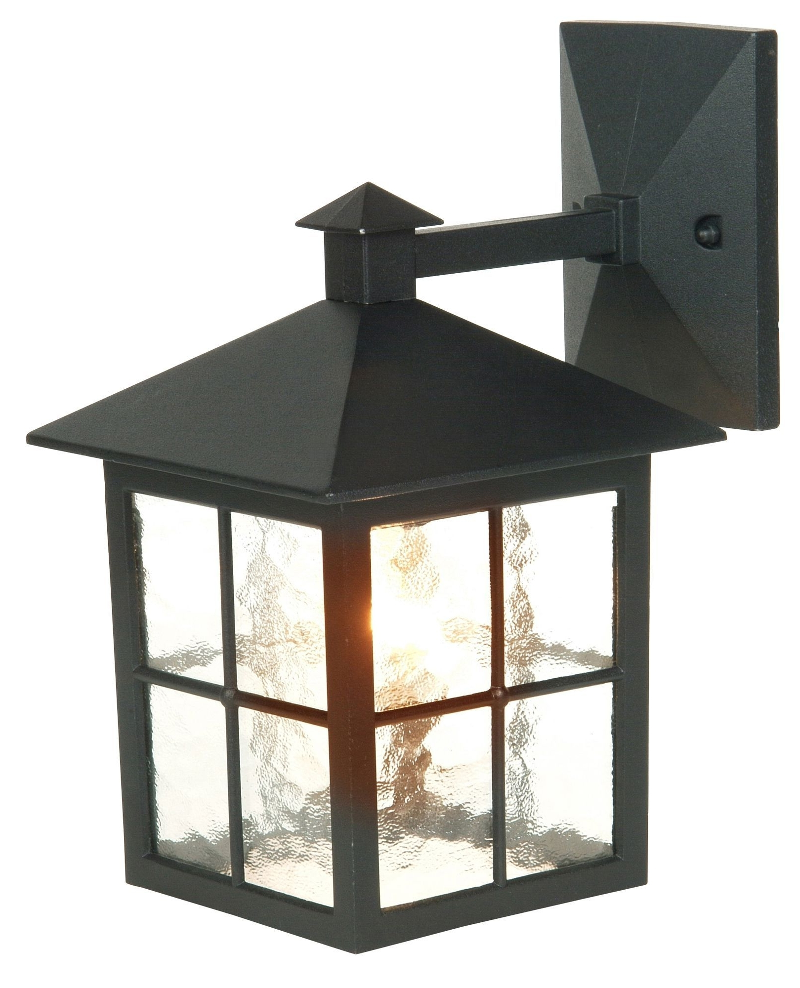Widely Used Maine Black Mains Powered External Wall Lantern (View 9 of 20)