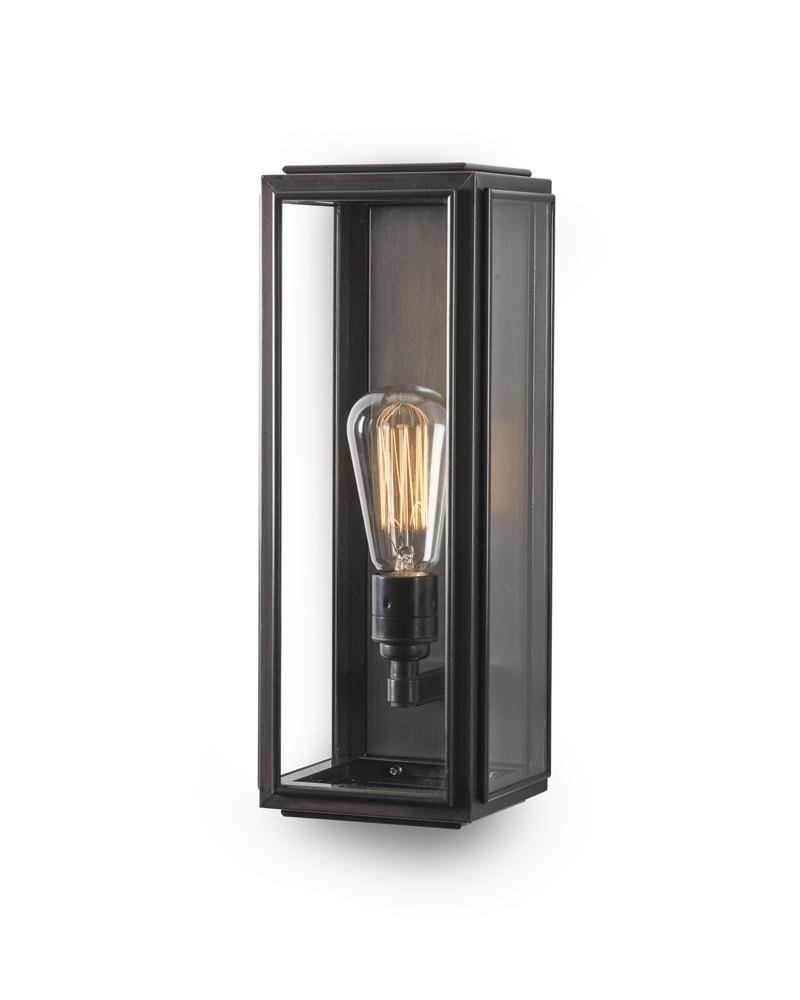 Widely Used Outdoor Brass Box Wall Lantern, Ash Vintage Retro Lighting Inside Outdoor Wall Lanterns (View 12 of 20)