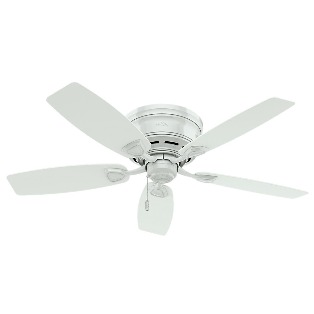 """Widely Used Outdoor Ceiling Fan With Brake Regarding Hunter Fan Sea Wind 48"""" White Outdoor Ceiling Fan, 53119 – Walmart (View 20 of 20)"""