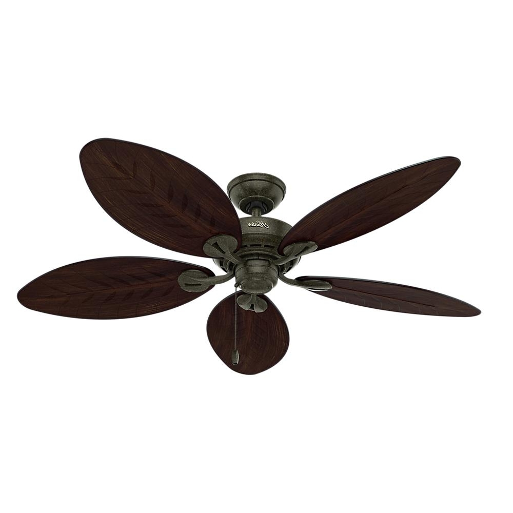 Widely Used Outdoor Ceiling Fans By Hunter Intended For Hunter Bayview 54 In (View 20 of 20)