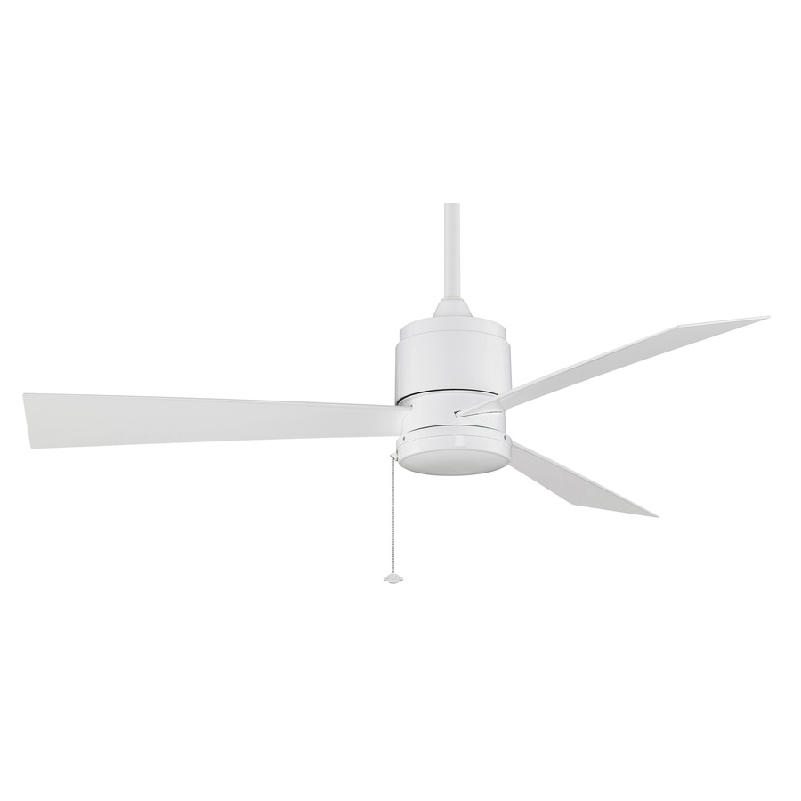 Widely Used Outdoor Ceiling Fans For Wet Areas Inside Shop Fanimation Zonix Wet 52 In White Indoor/outdoor Downrod Mount (View 18 of 20)