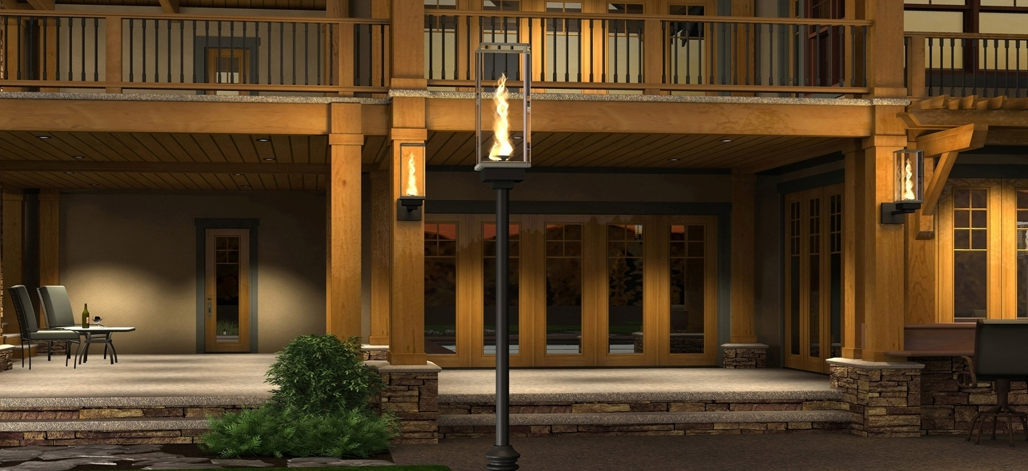 Widely Used Outdoor Gas Lamps And Lighting Tempest Torch Intended For Outdoor Intended For Outdoor Gas Lanterns (View 20 of 20)