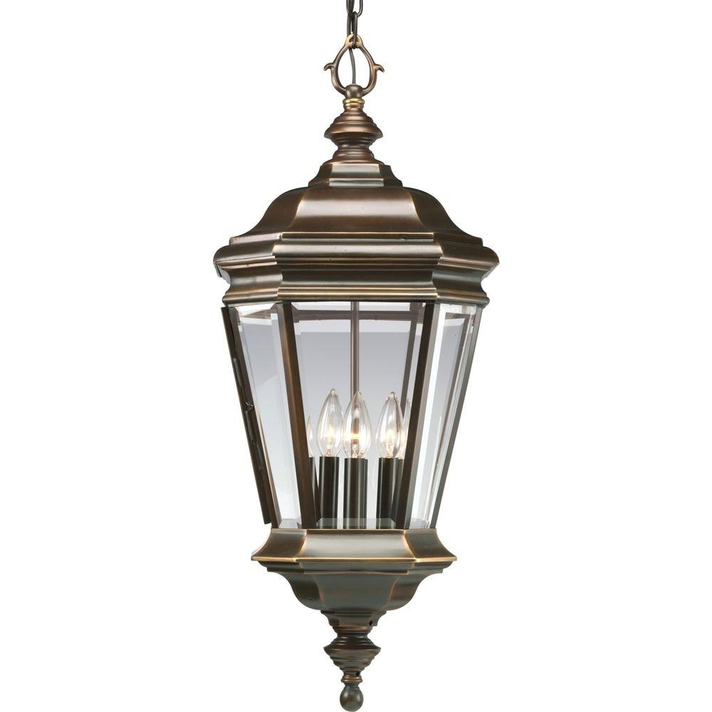 Widely Used Outdoor Hanging Oil Lanterns Intended For Progress Lighting Crawford Collection 4 Light Oil Rubbed Bronze (View 6 of 20)