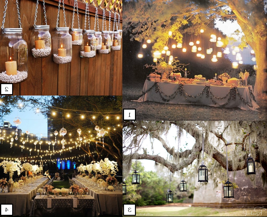 Widely Used Outdoor Lanterns For Wedding Intended For Mason Jar Lights Wedding – Google Search (View 5 of 20)