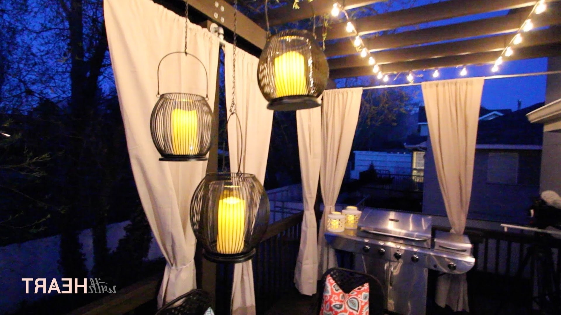 Widely Used Outdoor String Lights And Hanging Lanterns (View 3 of 20)
